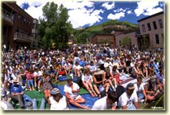 Elks Park audience in Telluride