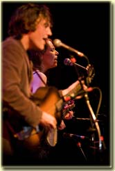 Gillian Welch & David Rawlings at the 2007 Folks Fest (photo: Tim Benko)