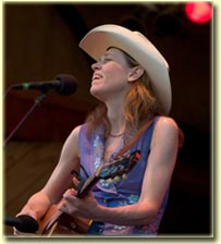 Gillian Welch at Telluride Bluegrass in 2005