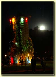 Mabon Moon over the Planet Bluegrass silo