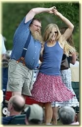 Dancing festivarians