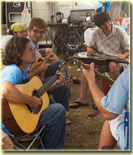 RockyGrass camp jam (photo: Russell Bramlett)