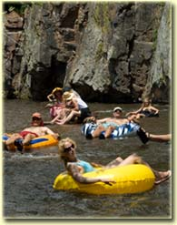 Tubing the St. Vrain through Planet Bluegrass