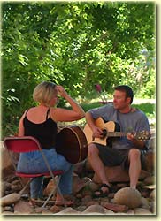 Songwriting along the St. Vrain River