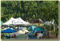 Warner Field camping at Telluride Bluegrass