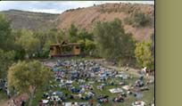The Planet Bluegrass stage
